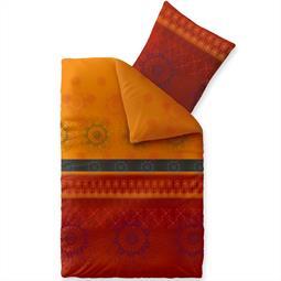Bettwäsche Garnitur 135x200 Baumwolle Reißverschluss Fashion Legra orange