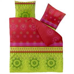 CelinaTex Bettwäsche Garnitur 200x220 Baumwolle Reißverschluss Fashion Lindsay grün pink