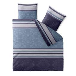 CelinaTex Bettwäsche Garnitur 200x200 Baumwolle Reißverschluss Fashion Nicole blau lila