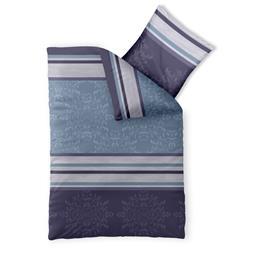 Bettwäsche Garnitur 135x200 Baumwolle Reißverschluss Fashion Nicole blau lila