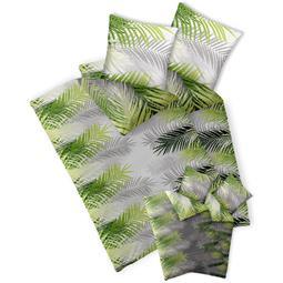 CelinaTex Bettwäsche Garnitur 155x200 Baumwolle Reißverschluss 4 teilig Fashion Zoe grün weiß - Wendedesign