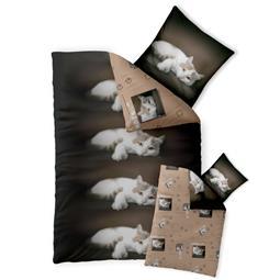 Bettwäsche Garnitur Baumwolle Fashion FUN 135x200 Katze