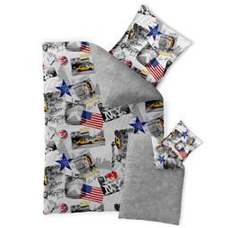 Bettwäsche Garnitur Baumwolle Fashion FUN 135x200 New York