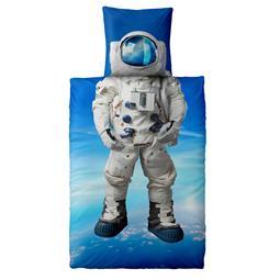Bettwäsche Garnitur Baumwolle Fashion FUN 135x200 Astronaut Space