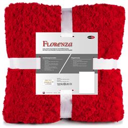 Kuscheldecke Plüsch Nicki Florenza 150x200 rot
