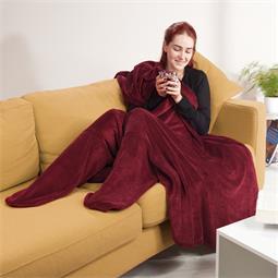 CelinaTex Sockendecke mit integrierten Socken Fußwärmer Footy 150x180 bordeaux