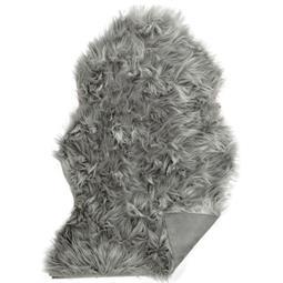 Läufer Bettvorleger Schaffell-Imitat 60x90 grau Furry