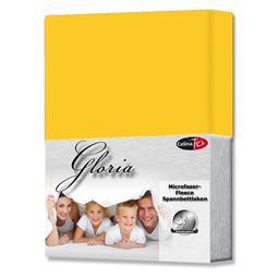 Spannbettlaken Microfaser Fleece Gloria mais gelb 160x200