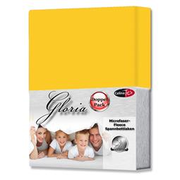 Spannbettlaken Microfaser Fleece Gloria Doppelpack mais gelb 160x200