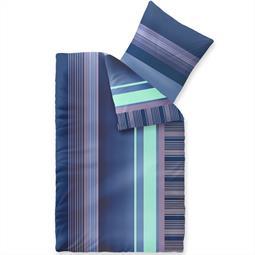 Bettwäsche Garnitur Microfaser Reißverschluss 4-teilig 155x220 cm Harmony Alina