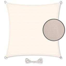 CelinaSun Sonnensegel HDPE atmungsaktiv BASIC Quadrat 4x4 cremeweiß