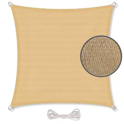 CelinaSun Sonnensegel HDPE atmungsaktiv BASIC Quadrat 2x2 sandbeige