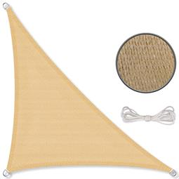 CelinaSun Sonnensegel HDPE atmungsaktiv BASIC Dreieck 3x3x4,25 sandbeige