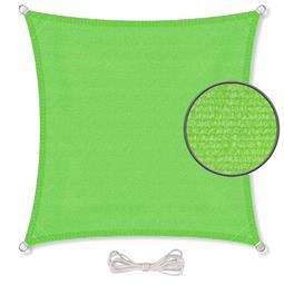 CelinaSun Sonnensegel HDPE atmungsaktiv Quadrat 4x4 grün
