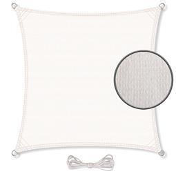 CelinaSun Sonnensegel HDPE atmungsaktiv Quadrat 2x2 weiß