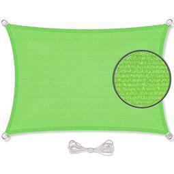CelinaSun Sonnensegel HDPE atmungsaktiv Rechteck 2x6 grün