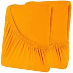Spannbettlaken Baumwolle Doppelpack 160x200 High-Line orange