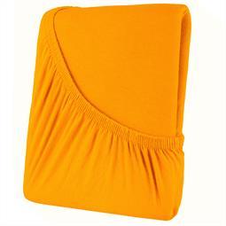 Spannbettlaken Baumwolle 90x200-100x200 High-Line orange
