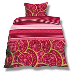 aqua-textil Bettwäsche Garnitur Mikrofaser Reißverschluss Living 155x220 Athen