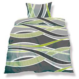 aqua-textil Bettwäsche Garnitur Mikrofaser Reißverschluss Living 200x200 Florenz