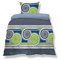 aqua-textil Bettwäsche Garnitur Mikrofaser Reißverschluss Living Doppelpack 155x220 Istanbul