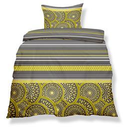 aqua-textil Bettwäsche Garnitur Mikrofaser Reißverschluss Living 135x200 Lissabon