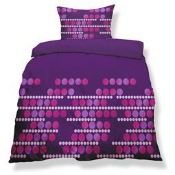 aqua-textil Bettwäsche Garnitur Mikrofaser Reißverschluss Living Doppelpack 135x200 Malaga