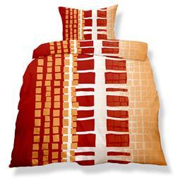 aqua-textil Bettwäsche Garnitur Mikrofaser Reißverschluss Living Doppelpack 155x220 Nizza
