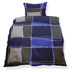 aqua-textil Bettwäsche Garnitur Mikrofaser Reißverschluss Living Doppelpack 135x200 Sofia