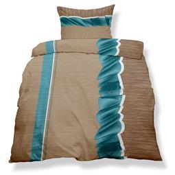 aqua-textil Bettwäsche Garnitur Mikrofaser Reißverschluss Living 135x200 Stockholm