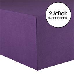 Kinder Spannbettlaken Baumwolle Lucina Minis Doppelpack 60x120-70x140 lila