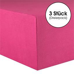 Kinder Spannbettlaken Baumwolle Lucina Minis Dreierpack 60x120-70x140 pink