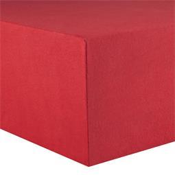 Kinder Spannbettlaken Baumwolle Lucina Minis 60x120-70x140 rubinrot