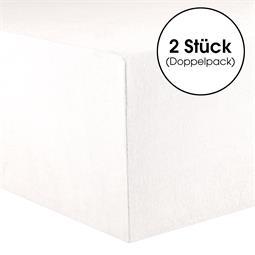 Kinder Spannbettlaken Baumwolle Lucina Minis Doppelpack 60x120-70x140 schneeweiß
