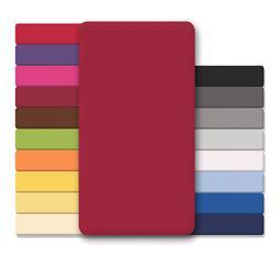 CelinaTex Spannbettlaken Baumwolle Lucina 90x200-100x200 bordeaux rot