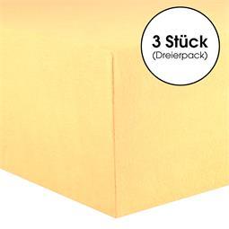 CelinaTex Kinder Spannbettlaken Baumwolle Lucina Minis Dreierpack 60x120-70x140 cremegelb