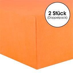 CelinaTex Kinder Spannbettlaken Baumwolle Lucina Minis Doppelpack 60x120-70x140 orange
