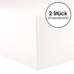 CelinaTex Kinder Spannbettlaken Baumwolle Lucina Minis Doppelpack 60x120-70x140 schneeweiß