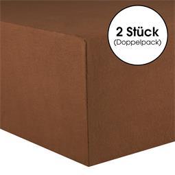 CelinaTex Kinder Spannbettlaken Baumwolle Lucina Minis Doppelpack 60x120-70x140 schokobraun