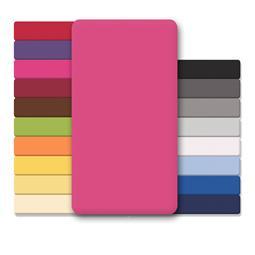 CelinaTex Spannbettlaken Baumwolle Lucina 180x200-200x200 pink