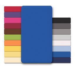 CelinaTex Spannbettlaken Baumwolle Lucina 90x200-100x200 royalblau