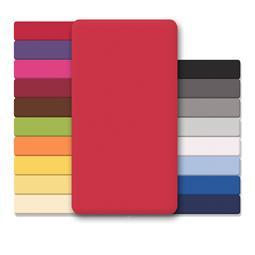 CelinaTex Spannbettlaken Baumwolle Lucina 140x200-160x200 rubinrot