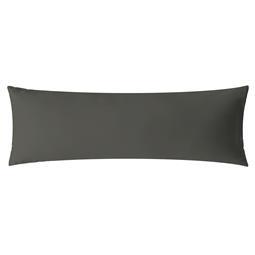 aqua-textil Kissenbezug Mako Satin Marken-Reißverschluss Luxury 40x145 anthrazit