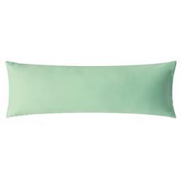 aqua-textil Kissenbezug Mako Satin Marken-Reißverschluss Luxury 40x145 mint