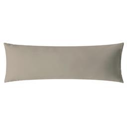 aqua-textil Kissenbezug Mako Satin Marken-Reißverschluss Luxury 40x145 silber