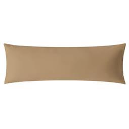 aqua-textil Kissenbezug Mako Satin Marken-Reißverschluss Luxury 40x145 taupe