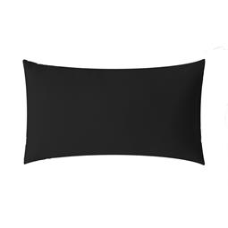 aqua-textil Kissenbezug Mako Satin Marken-Reißverschluss Luxury 40x80 schwarz