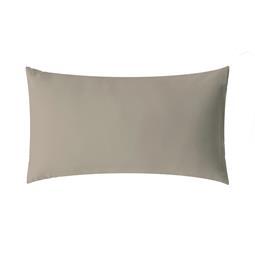 aqua-textil Kissenbezug Mako Satin Marken-Reißverschluss Luxury 50x70 silber