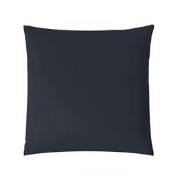 aqua-textil Kissenbezug Mako Satin Marken-Reißverschluss Luxury 50x50 dunkelblau