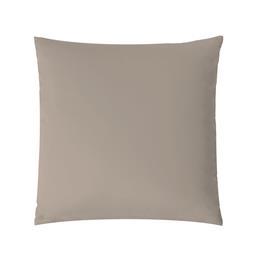 aqua-textil Kissenbezug Mako Satin Marken-Reißverschluss Luxury 45x45 silber
